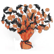 Beistle Bat and Pumpkin Gleam and Burst Centerpiece, 15-Inch