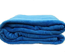 Empire Coral Fleece Super Soft Solid Throw Blankets (King, Blue)