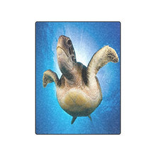 Sea Turtle Underwater Warmer Winter Fleece Throw Plush Blanket 50 x 60 inches (Medium)