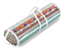 Whitmor Clear Gift Wrap Organizer   Zippered Storage For 25 Rolls