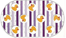 Yellow Duckie Bathtub Mat - Yellow Ducks with Purple Stripe Accents