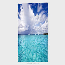 11.8W x 27.5L Inches Custom Cotton Microfiber Ultra Soft Hand Towel Beach On The Tropical Island Cle