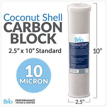 Go Green Bottles 10 Micron Active Carbon Block Filter - 2.5