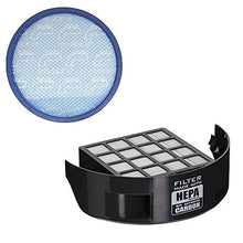 Green Label Exhaust HEPA Filter with Carbon Insert + Primary Blue Sponge Filter for Hoover Wind Tunnel 2/3 Pet, Model UH72630. Compares to 305687002, 304087001