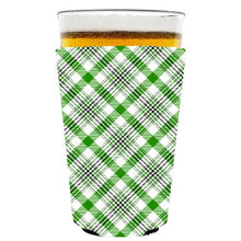 Coolie Junction Plaid 45 Pattern Pint Glass Coolie Green