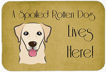 Caroline's Treasures BB1500CMT Golden Retriever Spoiled Dog Lives Here Kitchen or Bath Mat, 20 by 30