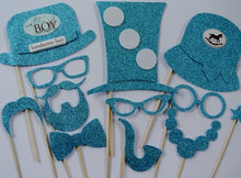 Baby Shower Its a Boy Photo Booth Party Props Blue Photo Booth Props Mustache on a Stick