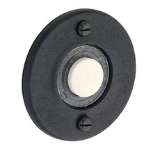 Baldwin 4851402 Round Bell Button, Distressed Oil Rubbed Bronze