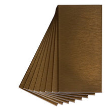 Aspect Peel and Stick Backsplash 3inx6in Brushed Bronze Short Grain Metal Tile for Kitchen and Bathrooms