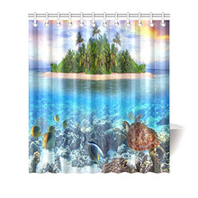 Sea Turtle Underwater Waterproof Bathroom decor Fabric Shower Curtain Polyester 66 x 72 inches