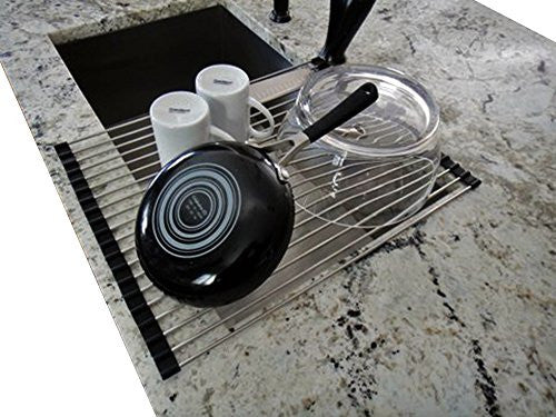 Up Good Stainless Steel Over The Sink Dish Drying Rack | Rollable, Foldable, And Easy To Store (Large
