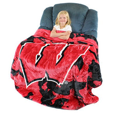 College Covers Wisconsin Badgers 63 X 86 Soft Raschel Plush Throw Blanket, 63