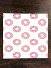 Fun Pink Donuts Doughnuts Sprinkles One Piece Premium Ceramic Tile Coaster 4.25