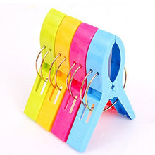 Bargain House Big Plastic Windproof Clothes Hanging Peg Beddable Quilt Sheet Clip Racks Bright Colour 4 Pcs