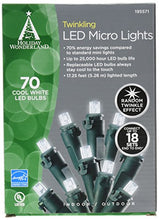 NOMA/INMLITEN-IMPORT 47901-88A 70 Count, Twinkling Cool White, Micro LED Light Set, 3