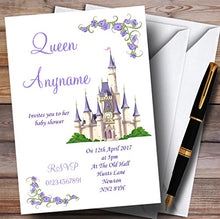 Purple Princess Castle Invitations Baby Shower Invitations