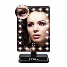 TFCFL Lighted Makeup Mirror 22 LED 10x Magnifying Removable Dimmable LED Makeup Mirror for Bathroom,