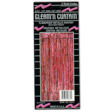 1-Ply FR Gleam 'N Curtain (red) Party Accessory  (1 count) (1/Pkg)