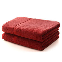 Cheer Collection Set of 2 Luxurious Hotel Quality Highly Absorbant Ultra Soft Cotton Bath Towels (30 inches x 56 inches) - Burgundy