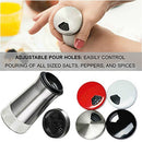 Image of Chefvantage Salt And Pepper Shakers Set With Adjustable Holes   Stainless Steel