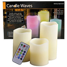 Candle Magic Natural Real Wax Color Changing Flameless Candles, 3-Pack