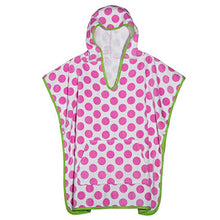 3C4G Dots Terry Cotton Poncho Cover Up, Polka Dot