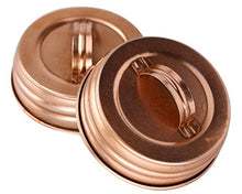 Shiny Copper Canister Handle Lid For Mason Jars (4 Pack, Regular Mouth)