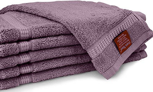 Utopia Towels 600 Gsm Washcloths, 12 Pack, Plum