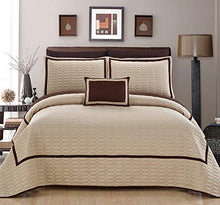 Chic Home 6 Piece Mesa Quilt Cover Set, Twin, Beige