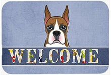 Caroline's Treasures BB1409JCMT Boxer Welcome Kitchen or Bath Mat, 24 by 36