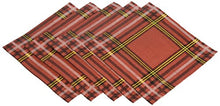 C.R. Gibson Red and Gold Plaid Beverage and Cocktail Napkins, 20pc, 5.5'' W x 5.5'' L