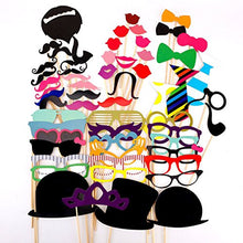 58PCS Masks Photo Booth Props Mustache On A Stick Birthday Wedding Party HL