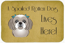 Caroline's Treasures BB1498CMT Shih Tzu Spoiled Dog Lives Here Kitchen or Bath Mat, 20 by 30