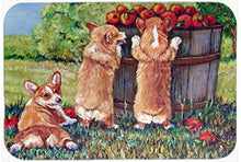 Caroline's Treasures 7351JCMT Apple Helper Corgis Kitchen or Bath Mat, 24 by 36
