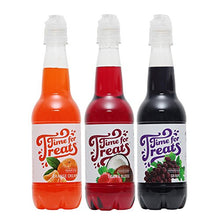 Time For Treats Orange Cream, Tigers Blood And Grape Snow Cone Syrup 3 Pack By Victorio Vkp1105