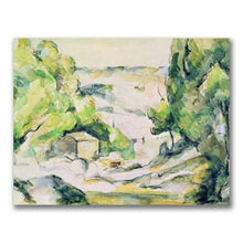 Countryside in Provence by Paul Cezanne, 18x24-Inch Canvas Wall Art