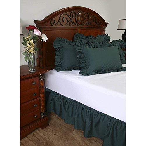 Shop Bedding Ruffled Bed Skirt (Twin Xl, Camel) 14 Inch Drop Dust Ruffle With Platform, Wrinkle And