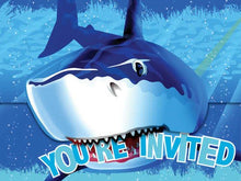 8-Count Party Invitations, Shark Splash Birthday