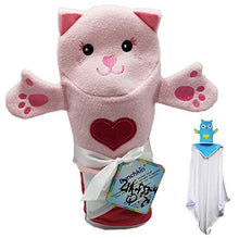 Pink Cat with Pink Heart Bunchkin Puppet Towel