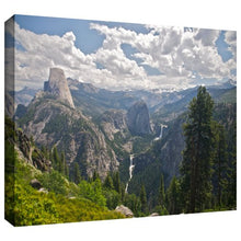ArtWall 'Yosemite-Half Dome, Vernal Falls and Nevada Falls' Gallery-Wrapped Canvas by Dan Wilson, 12 by 18-Inch