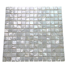 Art3d Mother of Pearl White Mini Square Mosaic Tile 12