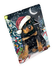 Have a Holly Jolly Christmas Rottweilers Dog in Holiday Background Art Portrait Print Woven Throw Sherpa Plush Fleece Blanket D029 (50x60 Fleece)