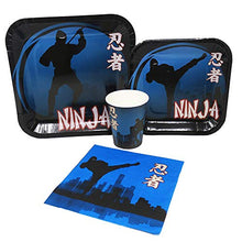 Blue Orchards Ninja Standard Party Packs (65+ Pieces for 16 Guests!), Ninja Birthday Supplies, Tableware