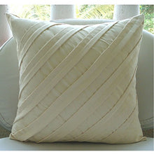 Designer Cream Decorative Pillow Covers 16x16 Inch, Suede Throw Pillows For Couch, Solid Color, Pint