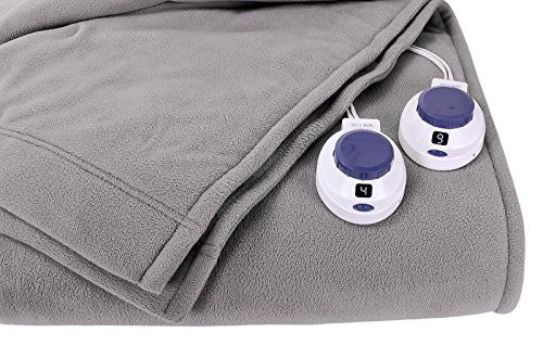 Soft Heat By Perfect Fit | Luxury Fleece Electric Heated Blanket With Safe & Warm Low Voltage Technol