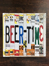 beer Time Beer Mexico License Plates One Piece Premium Ceramic Tile Coaster 4.25
