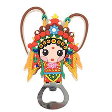 Kylin Express Chinese Peking Opera Characters Beer Bottle Opener Fridge Magnets, D