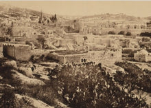 1862 Nazareth, from the north-west Vintage Black & White Photograph c9
