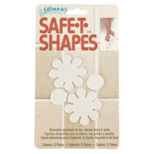 Compac Safe T Shapes Bathtub Decals   Functional Non Slip Decorative Bath Appliques For Tubs/Showers