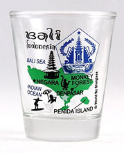 Bali Indonesia Landmarks Collage Shot Glass